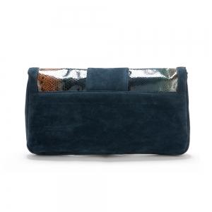 תיק קלאץ׳ EMA קטיפה כחול כהה