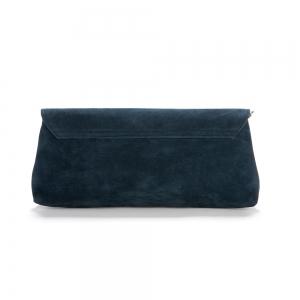 תיק קלאץ׳ JACEY קטיפה כחול כהה