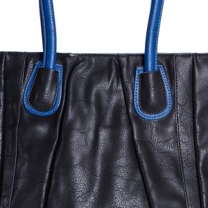 תיק NALA שחור עם ידיות כחולות