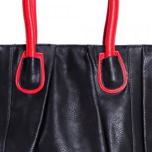 תיק NALA שחור עם ידיות אדום
