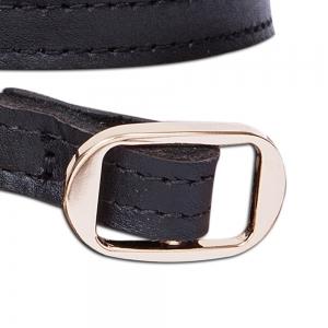חגורת עור דקה קלאסית שחורה