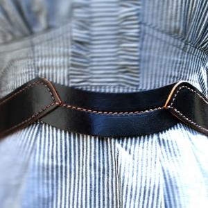 וויב - חגורת מותן שחורה תפרים אדומים