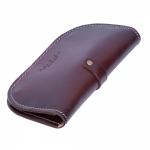 ארנק קלאץ' מעור חום שוקולד קשיח איכותי