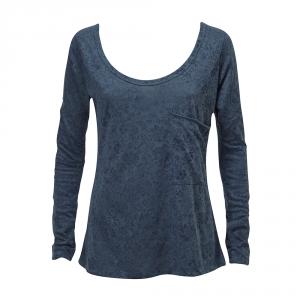 חולצה צרובה כחול ג'ינס