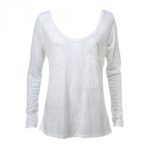 חולצה צרובה לבנה