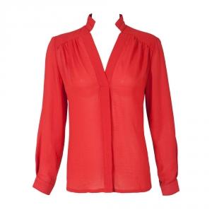 חולצת שיפון משי אדומה