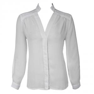 חולצת שיפון משי לבנה