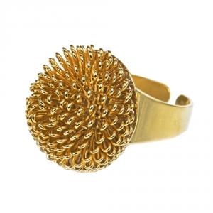 טבעת פרח זהב קטן