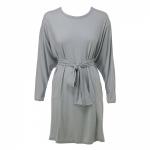 שמלת עטלף חגורה אפורה
