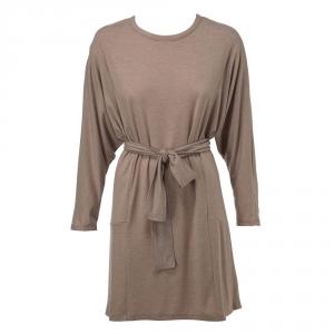 שמלת עטלף חגורה חומה