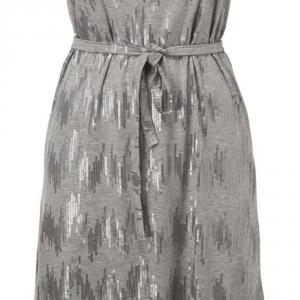 שמלת פאייטים - כסף אפור