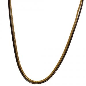 שרשרת D שחור זהב